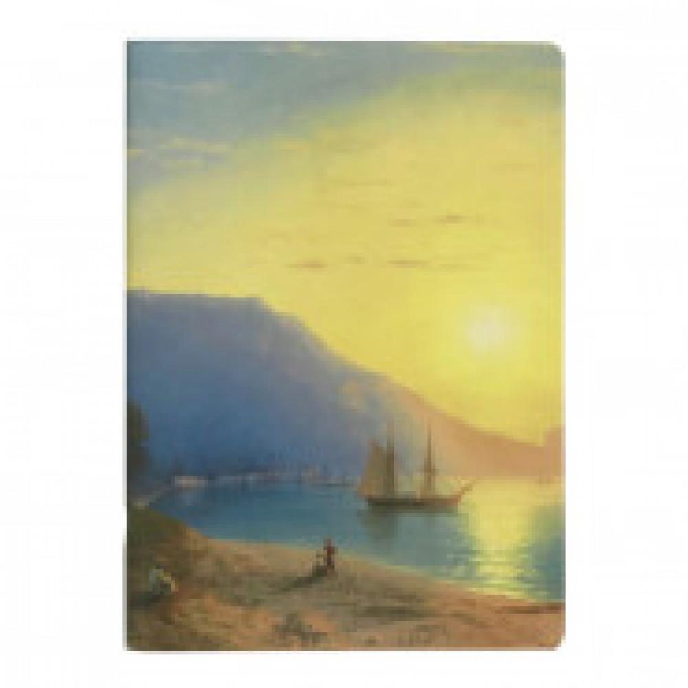 Бизнес-тетрадь Art-Blanc Ayvazovsky А5,40л,150х210мм,нелинов,скрепка N1604K