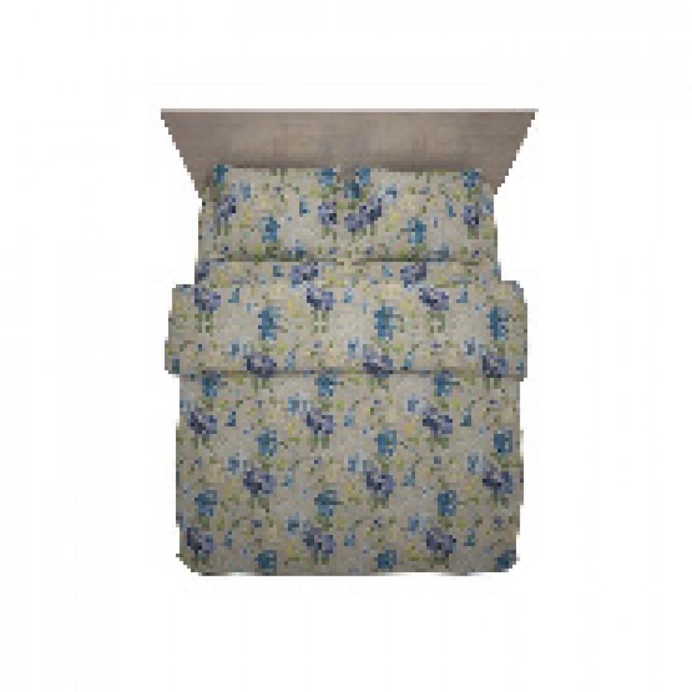 Комплект постельного белья 1,5 сп полисатин 60 гр/м2 Capri голубой