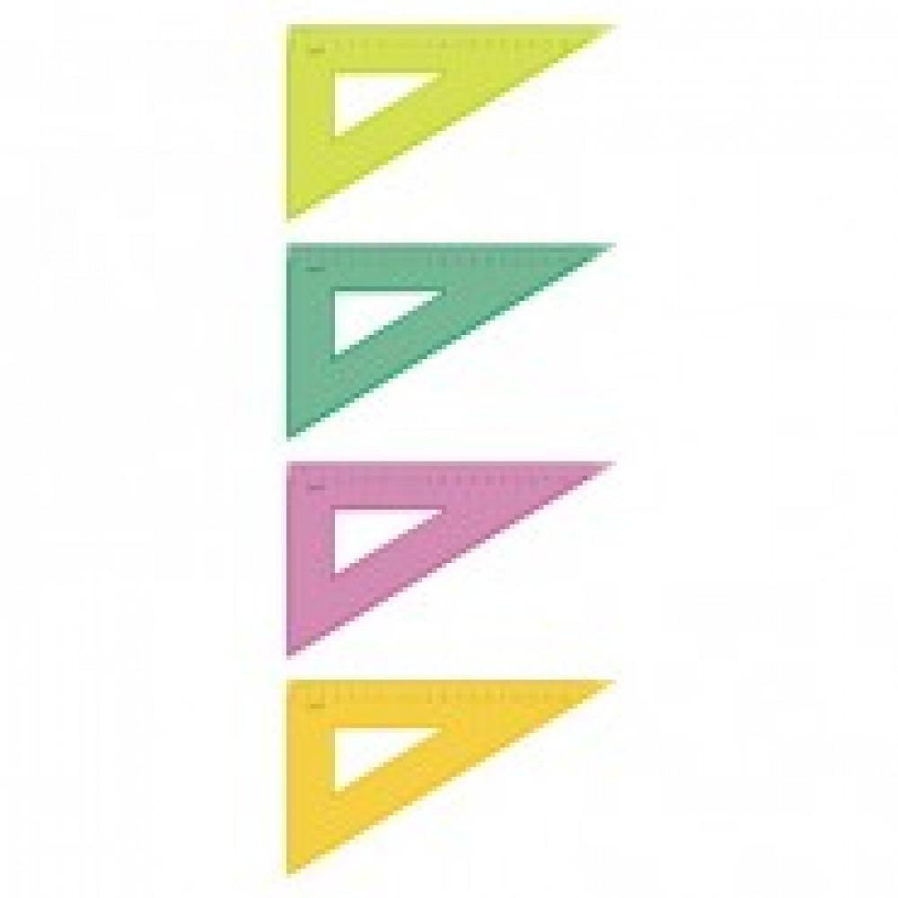 Треугольник 18 см угол 30 градусов Neon Cristal 4цв ТК-47