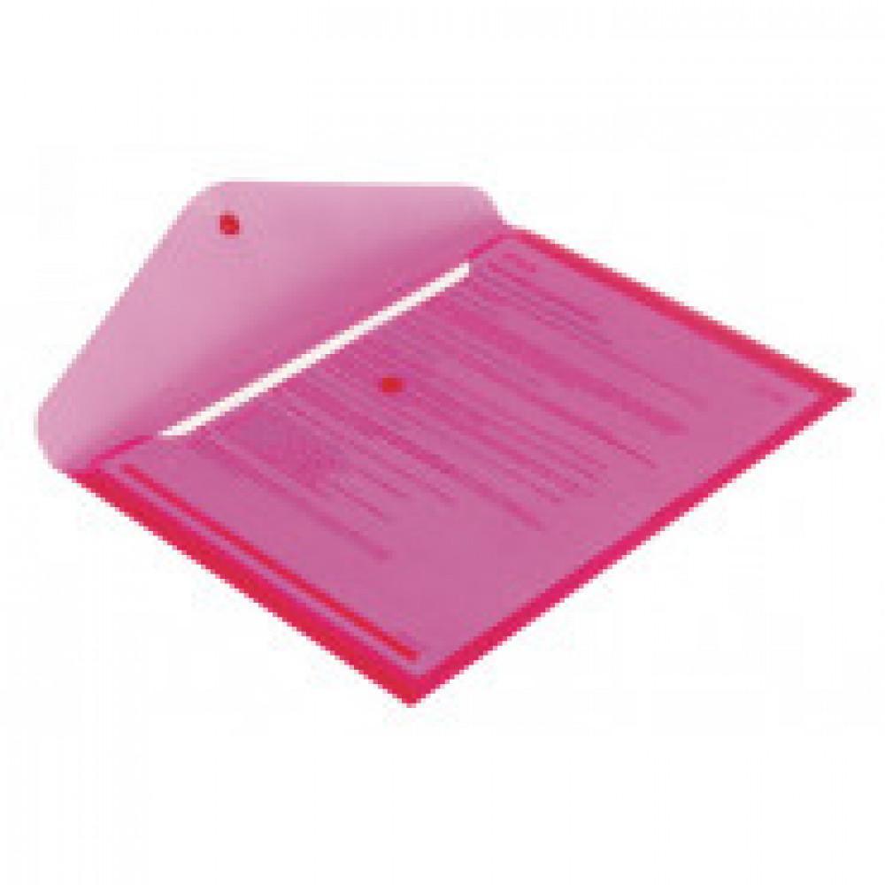 Папка-конверт на кнопке Attache 330x240 мм красная 180 мкм (10 штук в упаковке)