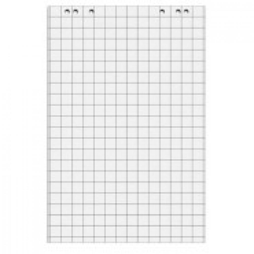 Блок бумаги для флипчартов клетка 67,5х98 20 лист. 5 бл/уп 80гр.