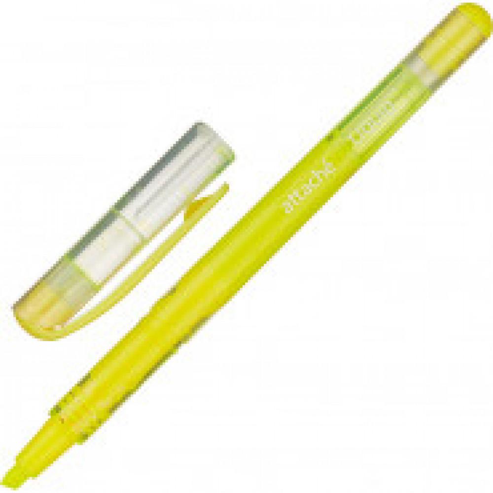 Маркер выделитель текста Attache Liquid 1-4мм жидкие чернила жёлтый