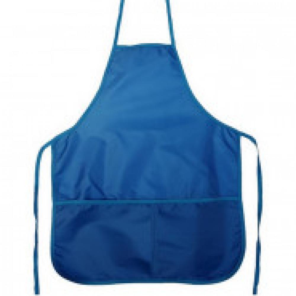 Фартук для труда №1 School синий 44x54 см, 2 кармана