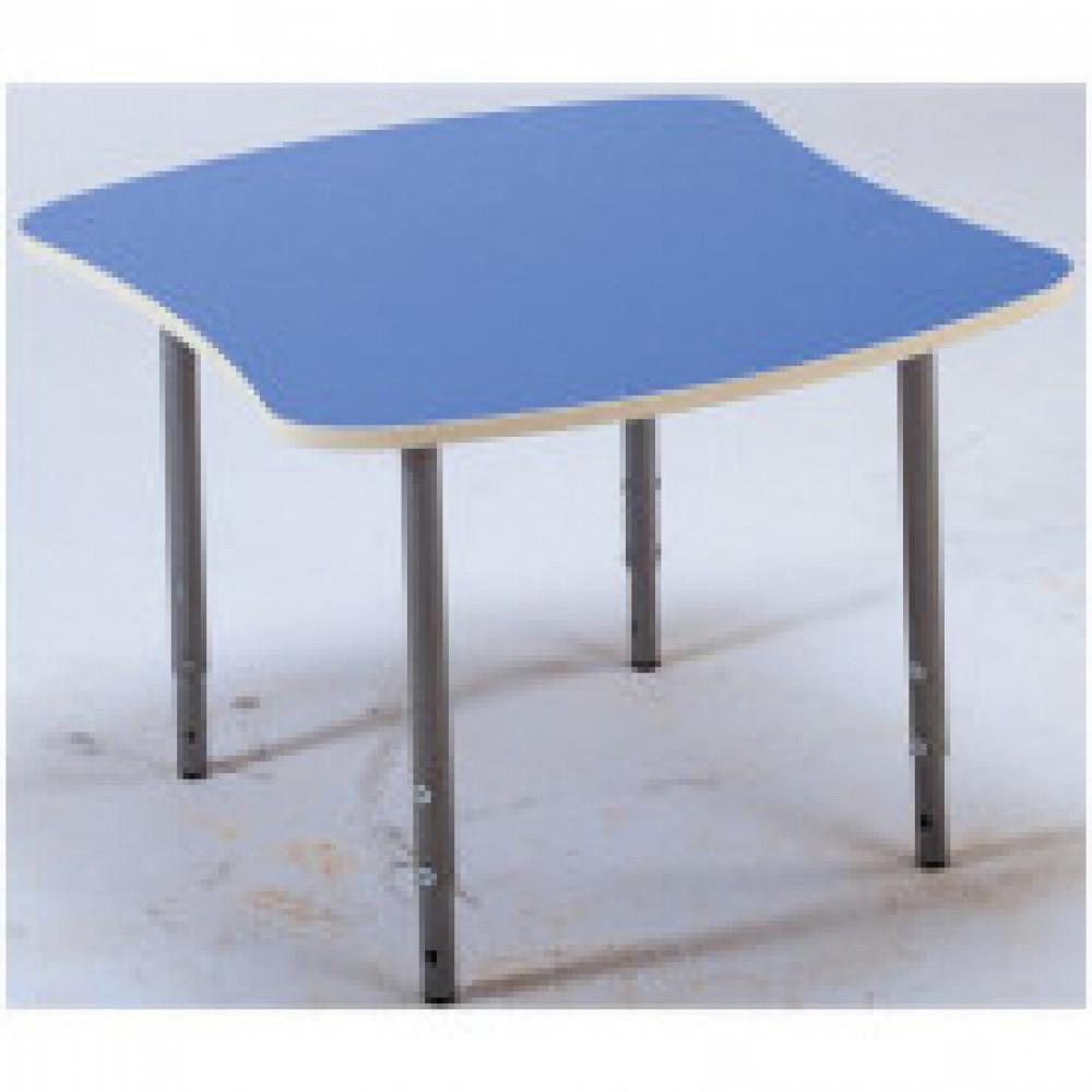 Детская мебель Д_Стол эргоном. 005.329 Рост 0-3 столешн.голубая