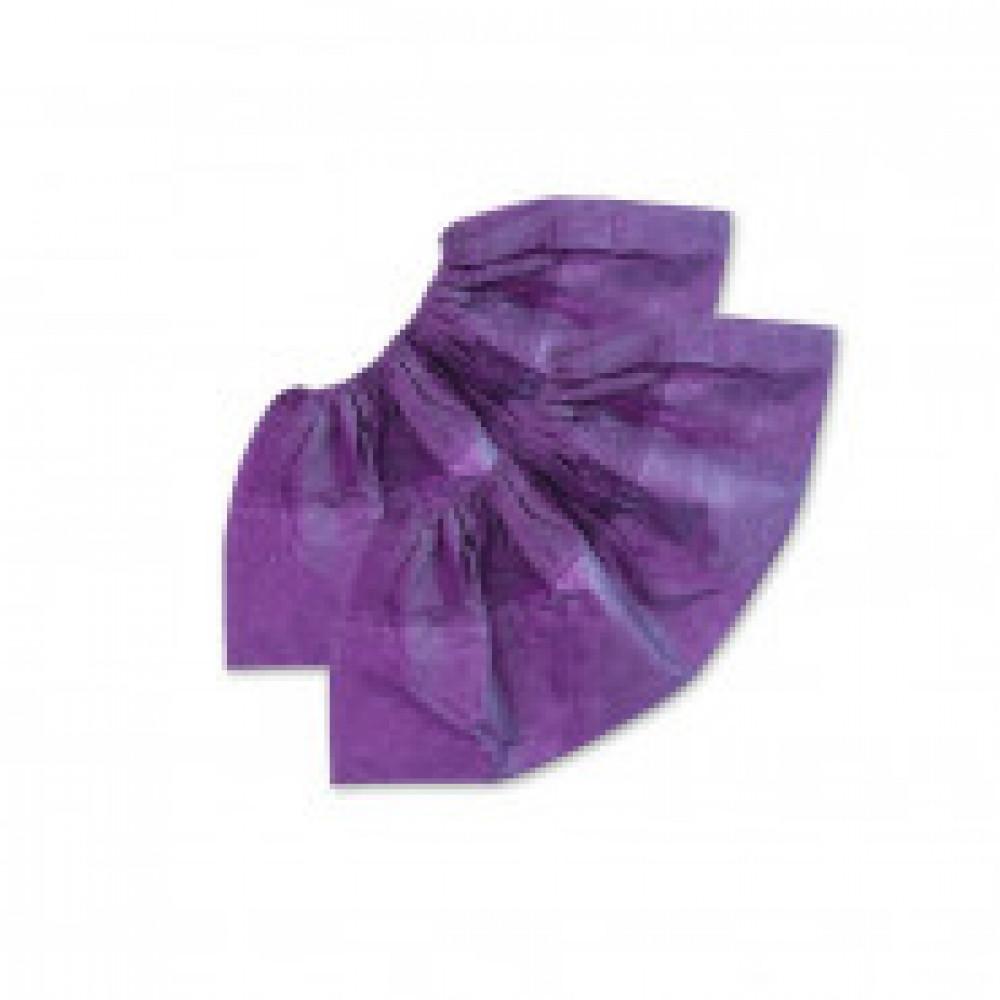 Бахилы ламин. 2-ая резинка бело-фиолетовые ЭЛ-ЛАМ-ФБ 250пар/уп