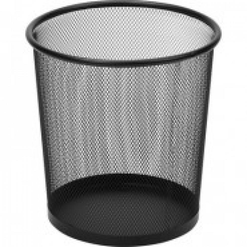Корзина круглая, метал. сетка,d225мм, 6,7л.(черная)