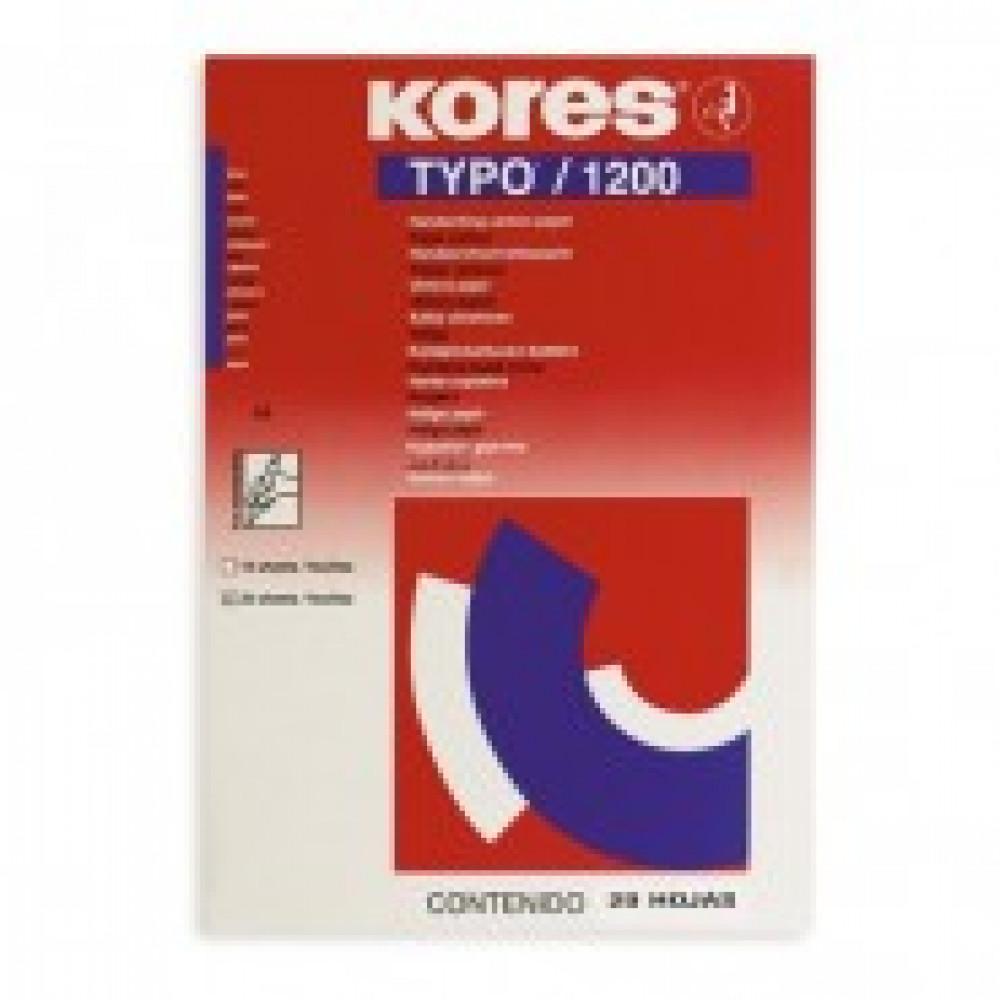Бумага копировальная синяя KORES 1200 пачка 20л. ?7529079