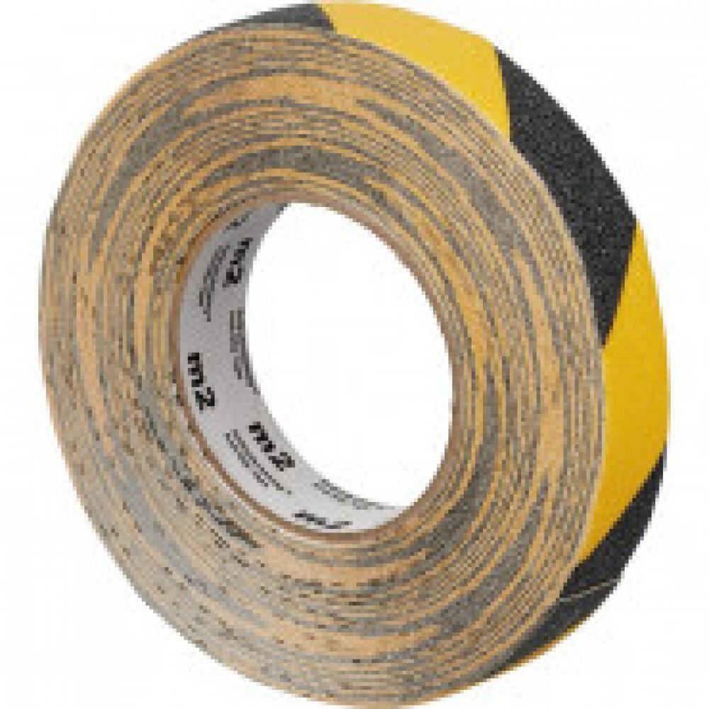Лента противоскользящая 25мм х 18,3м желто-черная (M1WR025183)