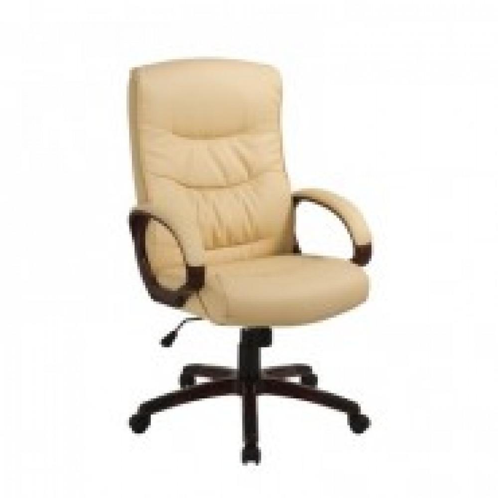Кресло BN_Dt_Руковод. EChair-633 TR рец.кожа бежевая, пластик