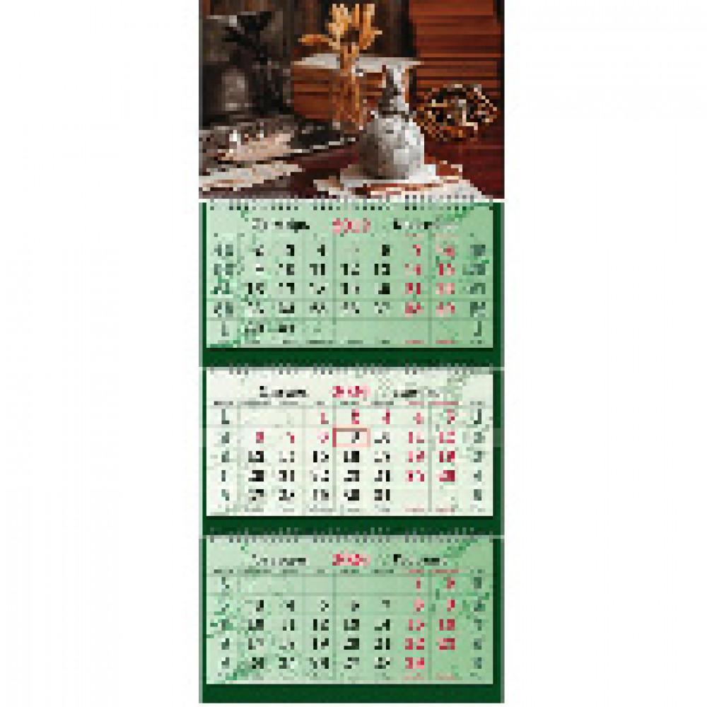 Календарь настен Супер-Премиум,2020,340х805,Символ года,3спир,100г/м2