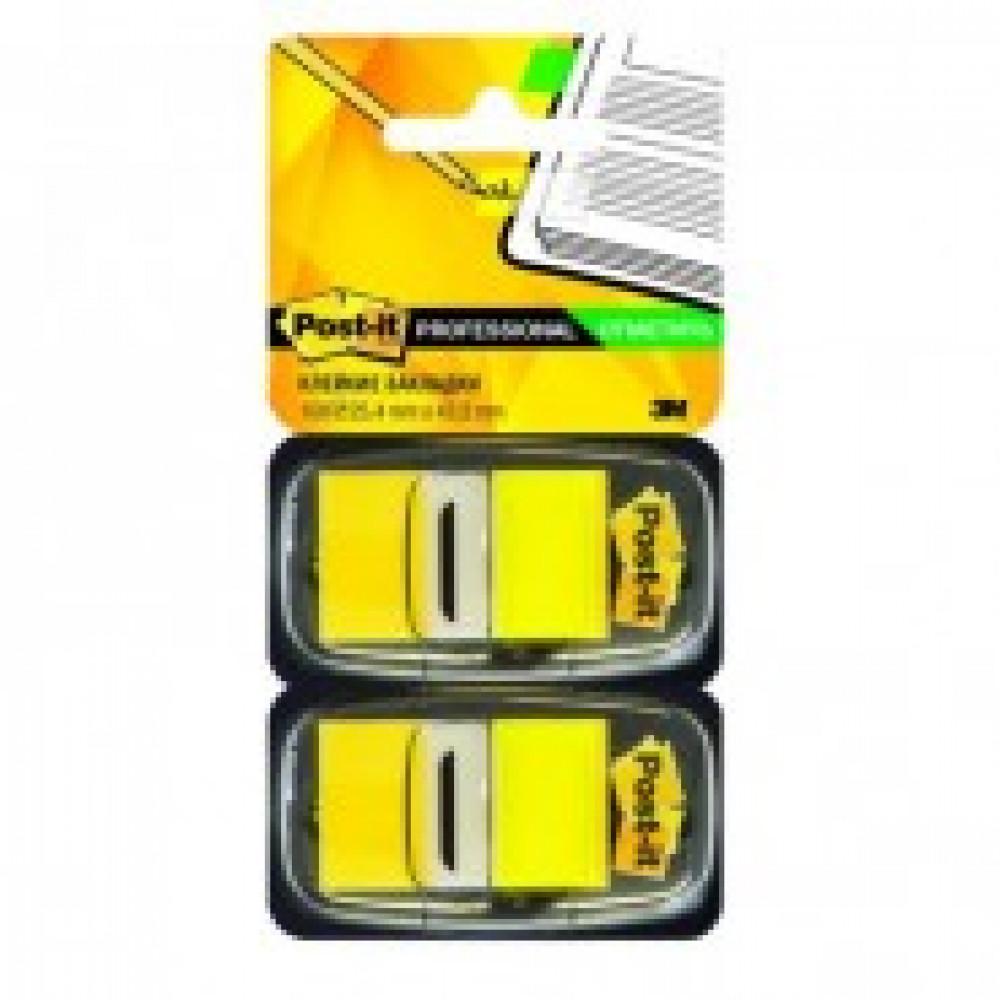 Клейкие закладки пласт. 1цв.по 100л. 25мм желт Post-it ?680-YW2
