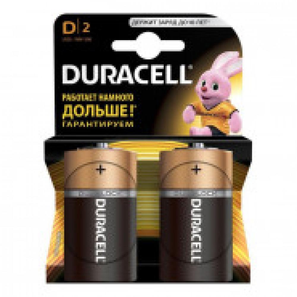 Батарейки Duracell D LR20 (2 штуки в упаковке)