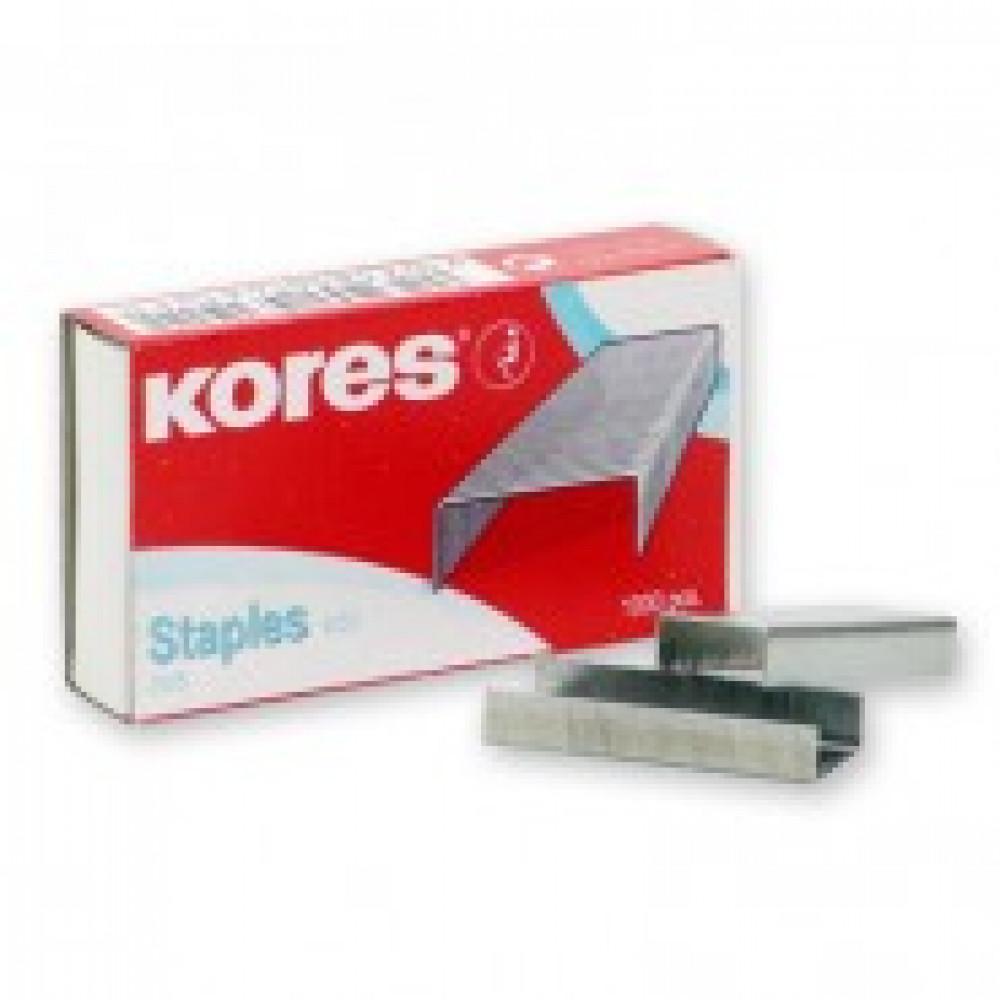 Скобы для степлера N24/6 KORES никелированные (2-30 лист.) 1000 шт в уп.