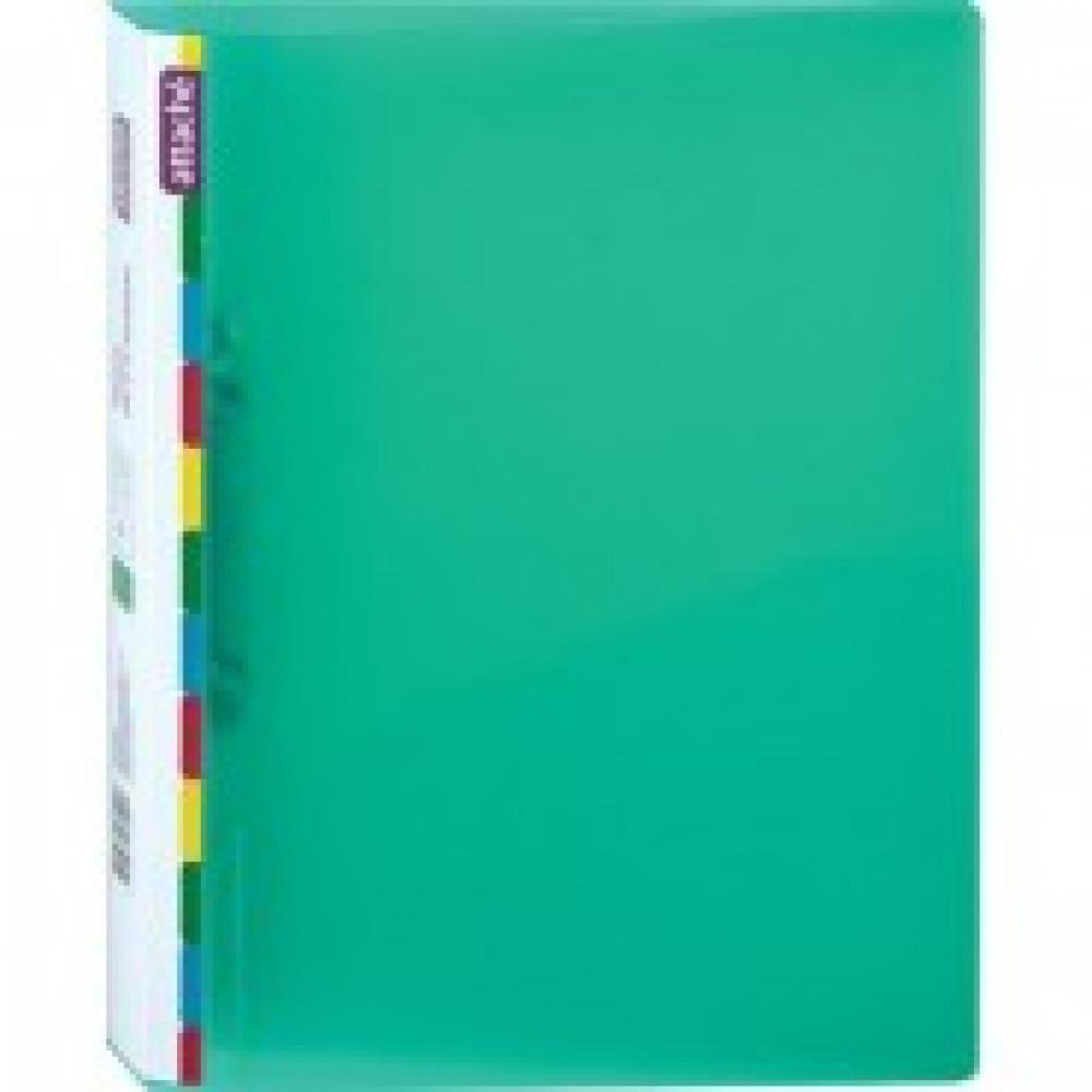 Папка на 2-х кольцах Attache Diagonal 25 мм зеленая до 150 листов (пластик 0.5 мм)