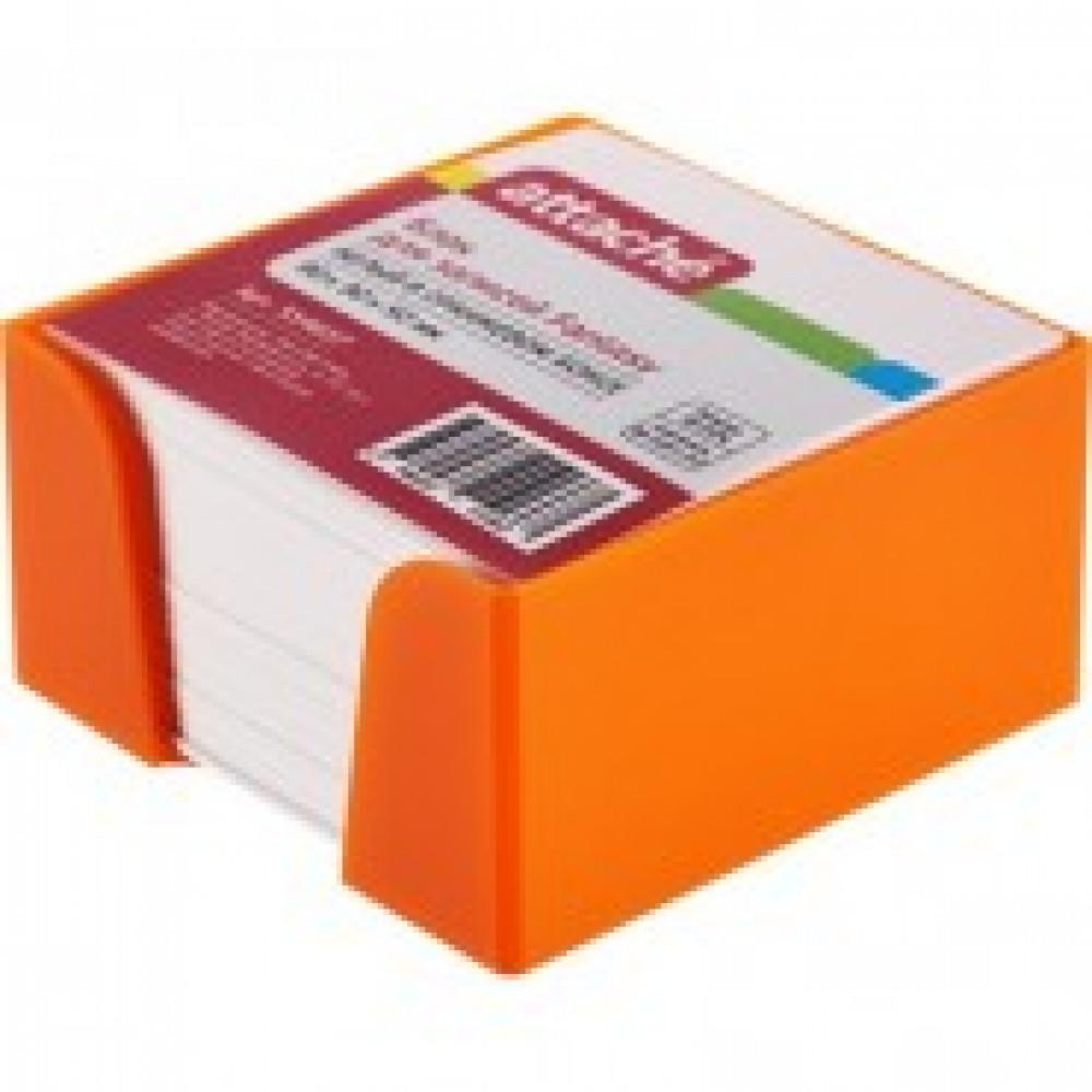 Блок для зап в подставке ATTACHE Fantasy 9х9х5 оранжевый белый блок100г/92