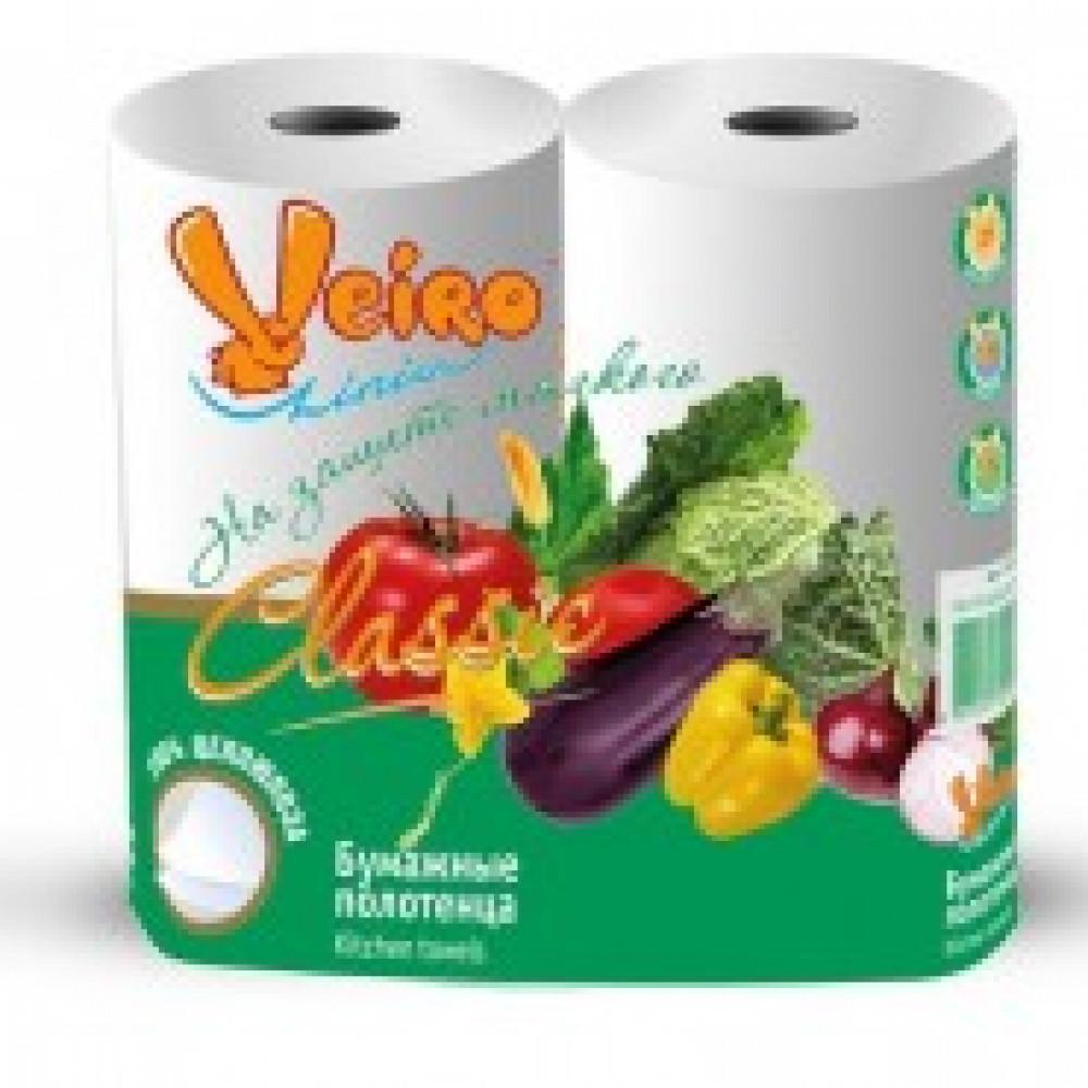 Полотенца бумажные VEIRO  Classic 2-сл.,с тиснением,2рул./уп.5п22