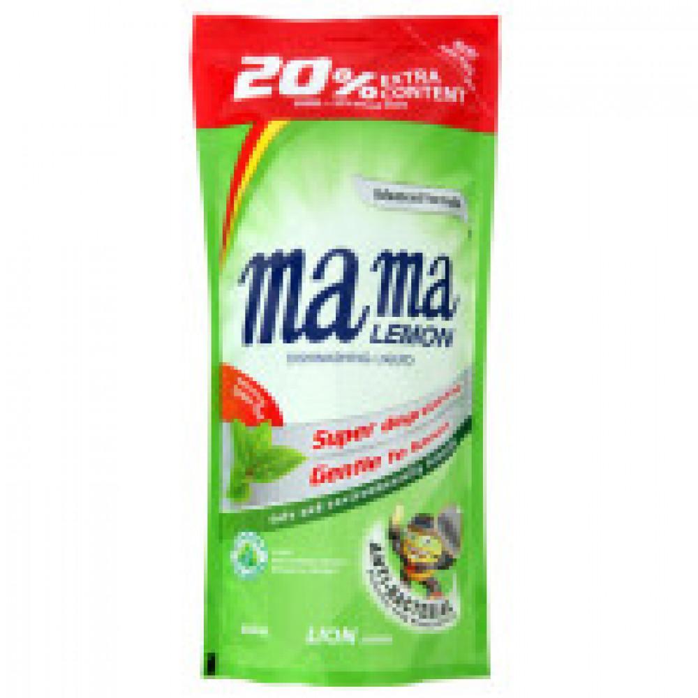 Конц.гель д/мытья посуды Mama Lemon 600 мл(зеленый чай)