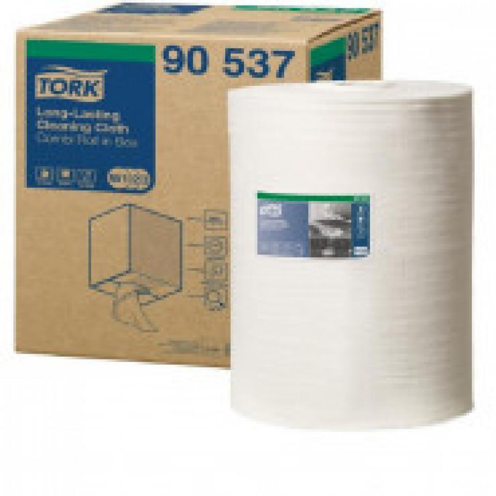 Материал протирочный нетканый Tork W1/W2/W3 300лx1рул/кор, белый 90537