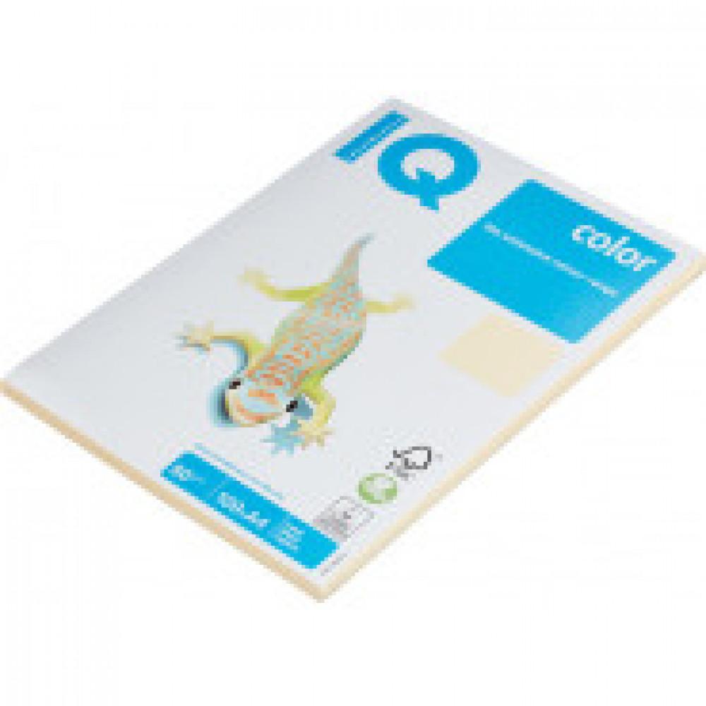Бумага цветная IQ COLOR (А4,80г,CR20-кремовый) пачка 100л.