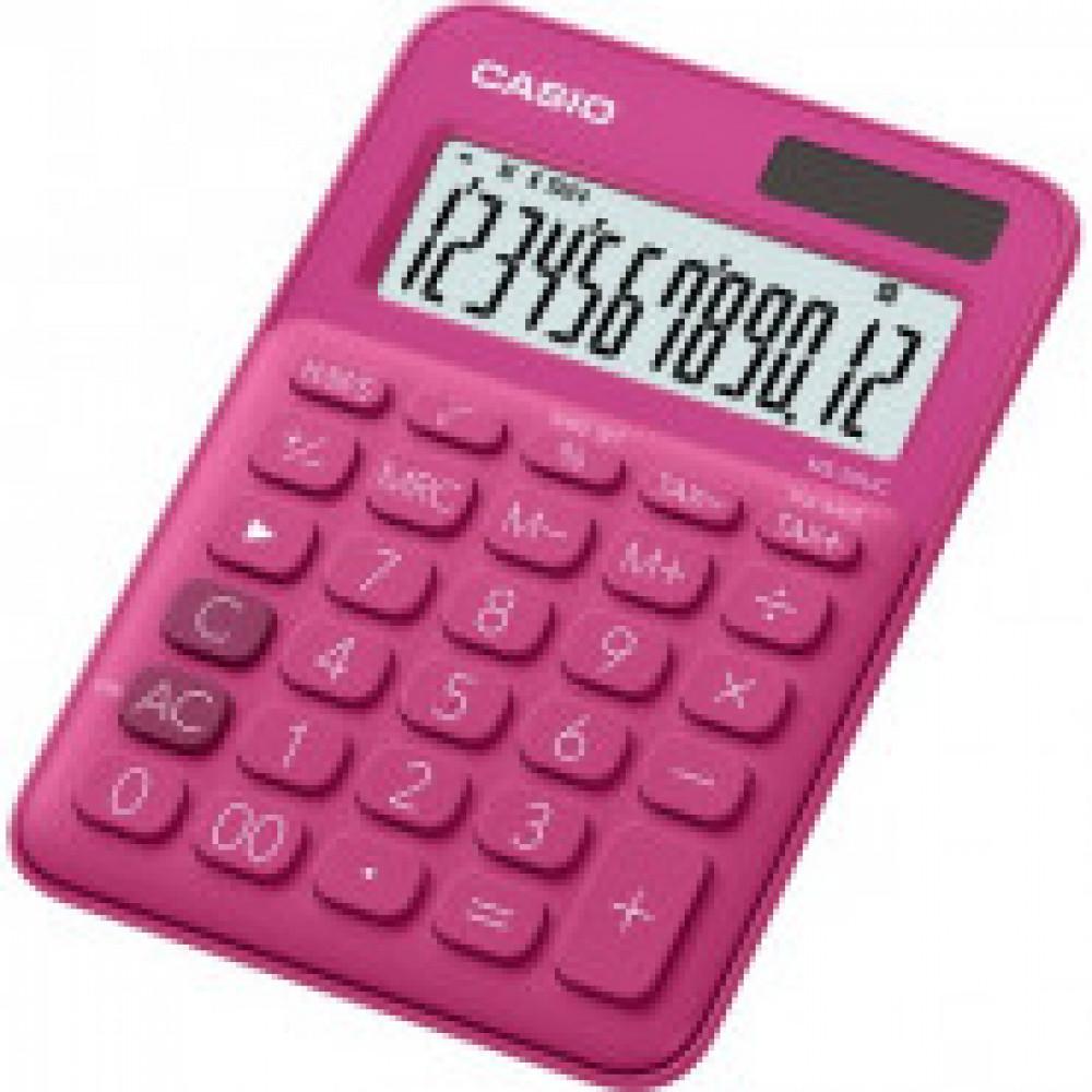 Калькулятор настольный CASIO MS-20UC-RD 12 разрядов, цвет розовый