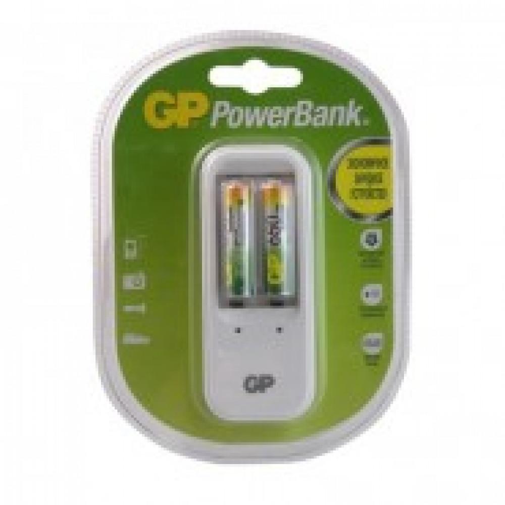 Зарядное устройство GP PB410GS65 для 2-х аккумуляторов АА/ААА (в комплекте 2 аккумулятора ААА емкостью 650 mAh)