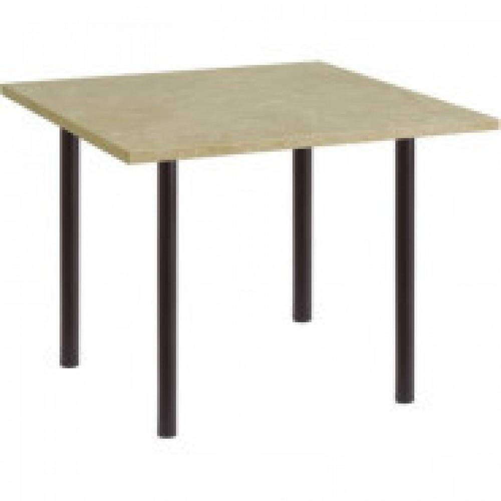 Стол обеденный UD_Стиль СТ5 квадрат, опора черная, 1003 мрамор валенсия