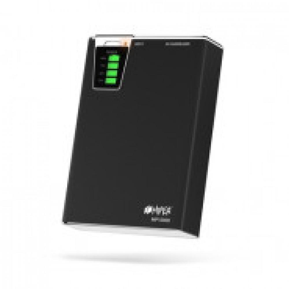 Внешний аккумулятор 10000 mAh, Li-Ion, 2xUSB, 2.1A+1A, Hiper, черн,MP10000