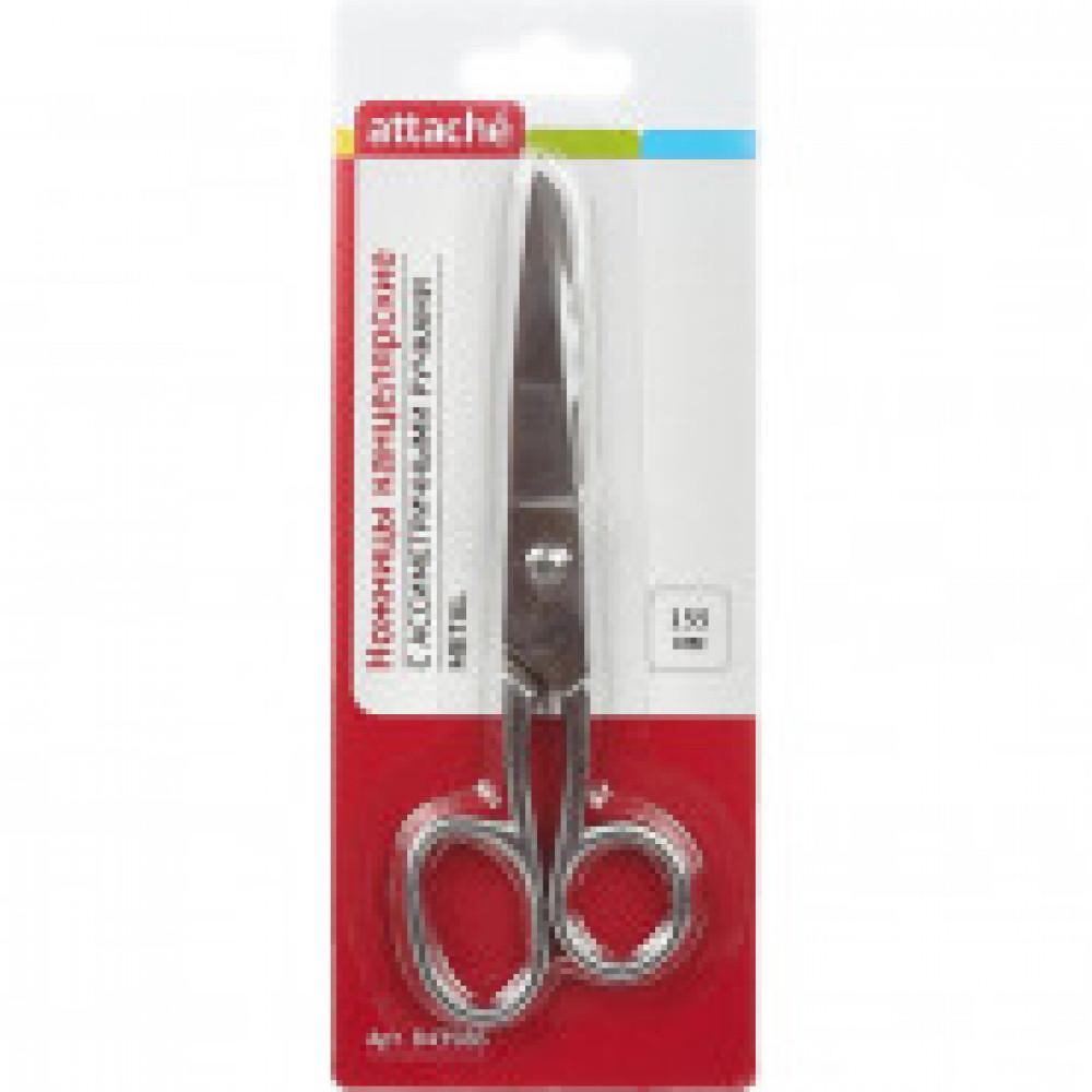 Ножницы Attache Metal 155 мм цельнометаллические