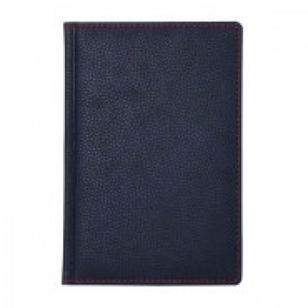 Алфавитная книжка А5,142х210мм,120л,темн-синий,красная простр АТТАСНЕBizon