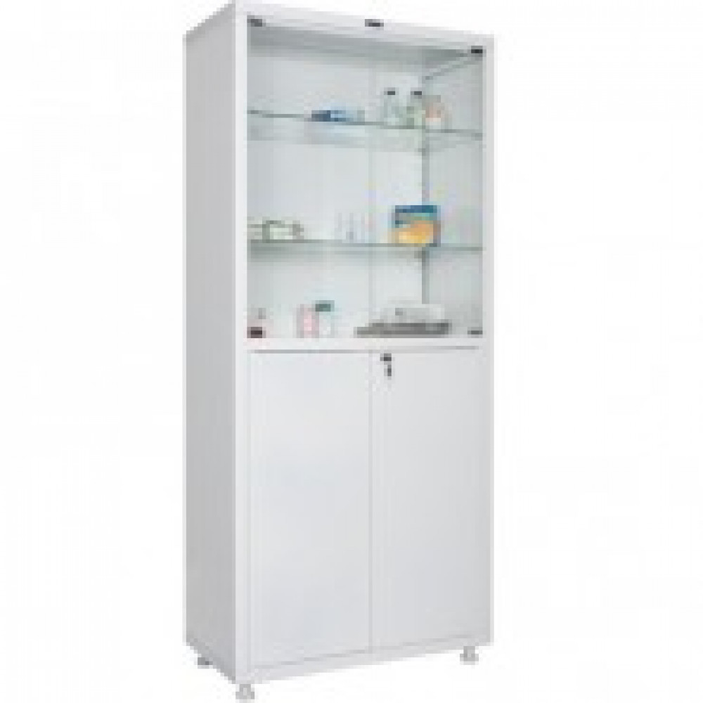 Метал.Мебель HILFE МД 2 1780/SG шкаф мед,стек,4дв.800*400*1811