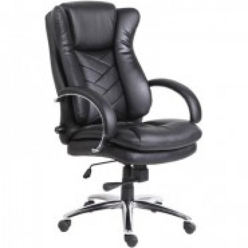 Кресло BN_Dt_Руководителя Echair-541 TL кожа черная, хром