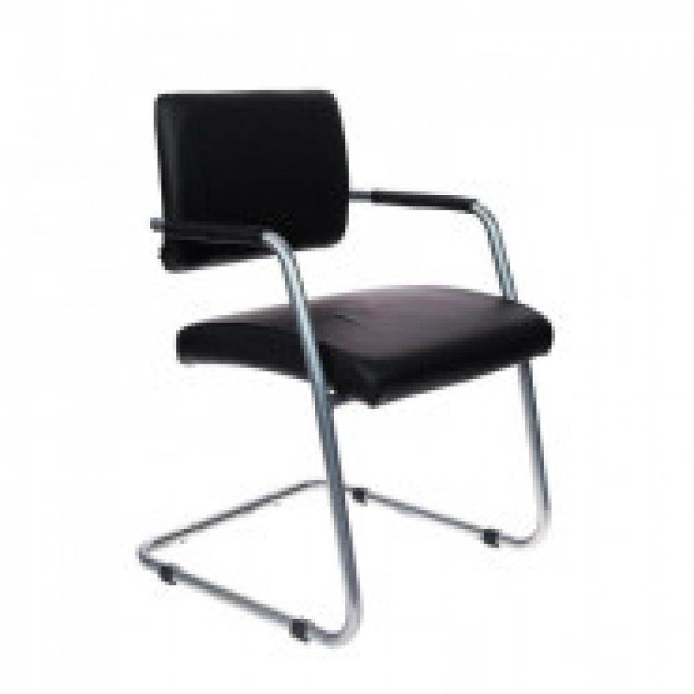 Кресло VB_БЮРОКРАТ CH-271-V каркас цвет хром, к/з черный OR-16