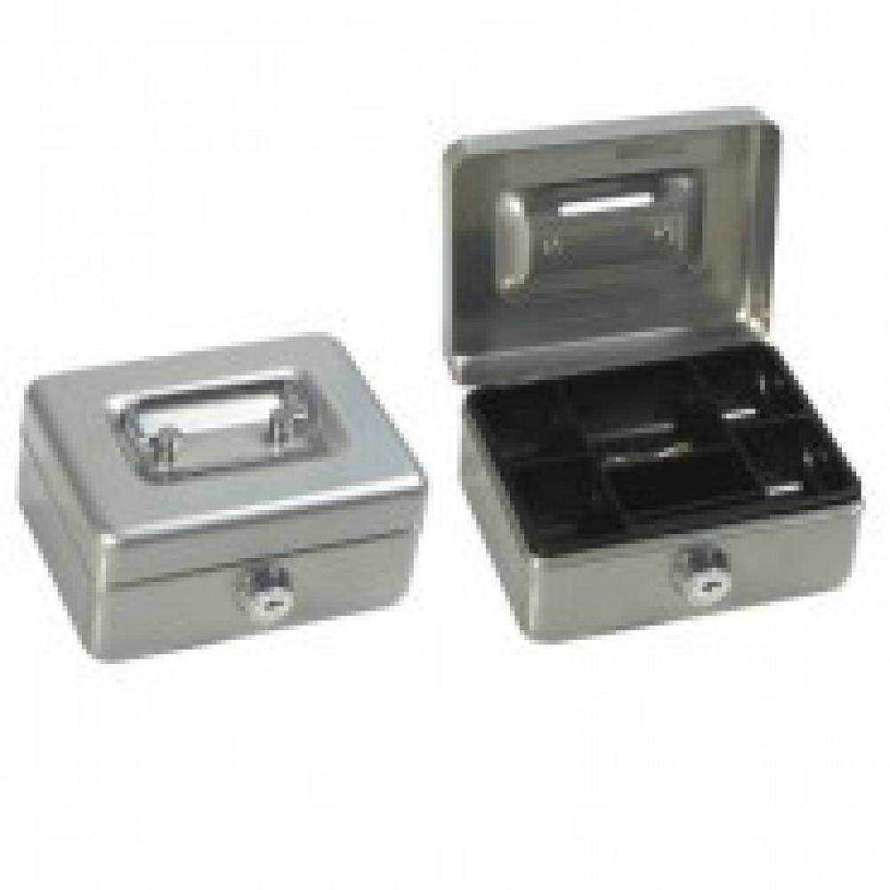 Метал.Мебель Office-Force Т38 Кешбокс10038 ключ,сереб.125х95х60