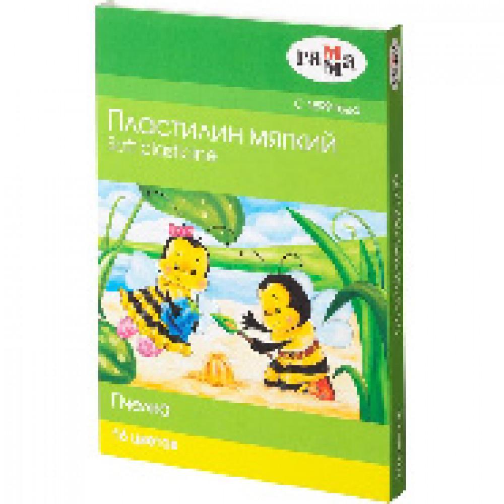 Пластилин Гамма Пчелка мягкий 16цв, со стеком, к/к, 240г, 280030Н