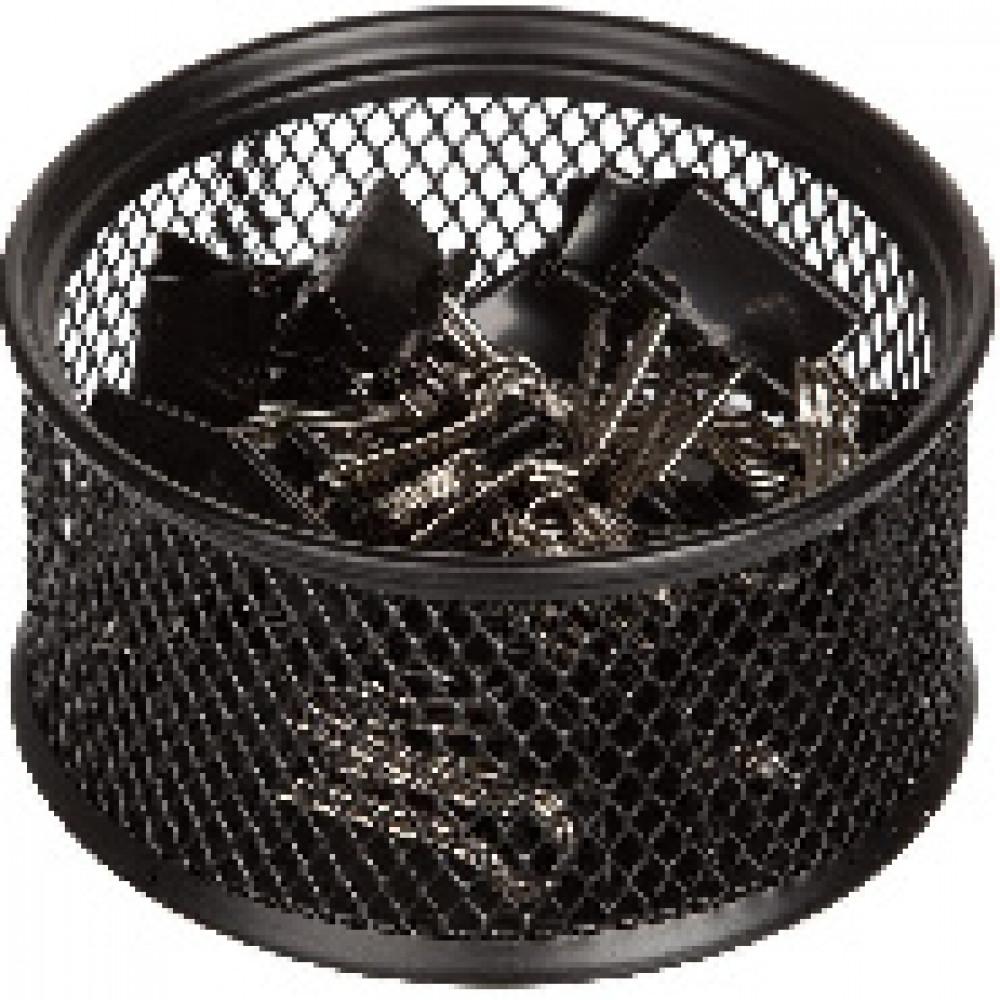 Зажимы для бумаг 19 мм Attache, в метал. подставке, 25 шт.в уп. цв.черный
