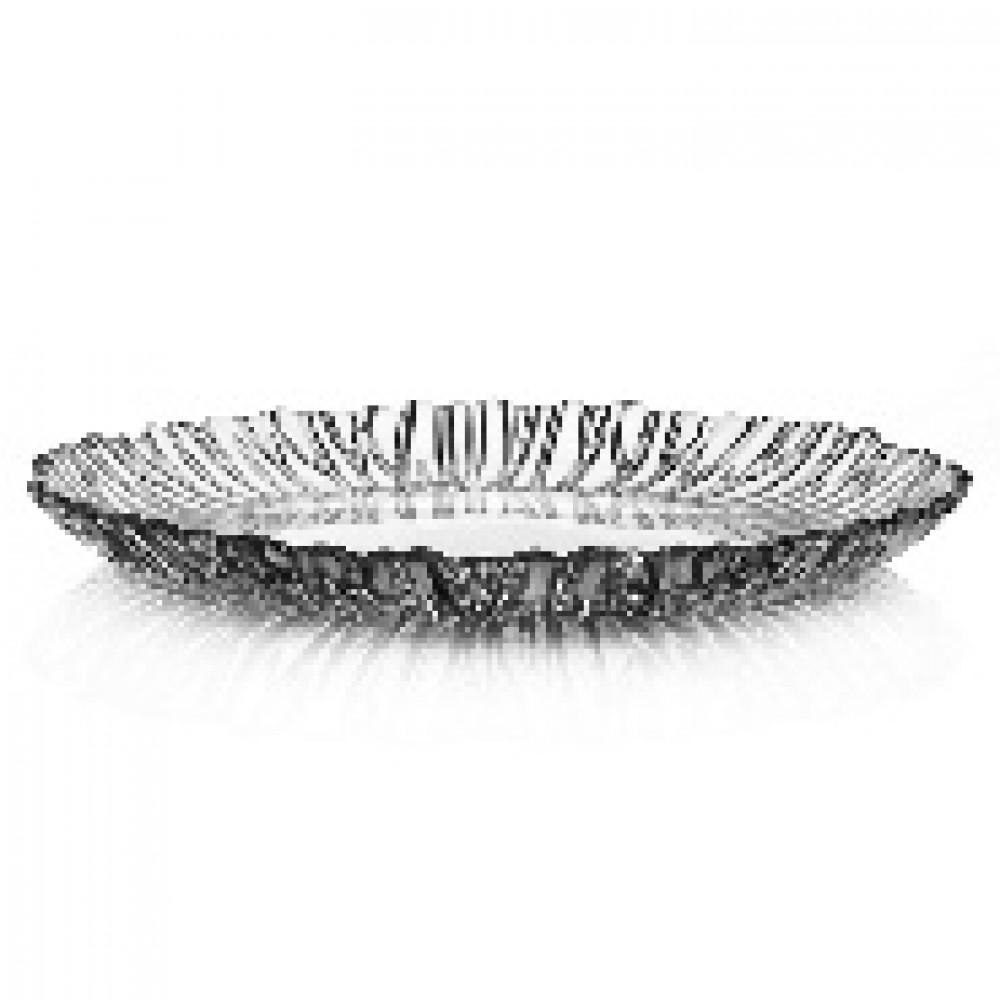 Блюдо АВРОРА d-31,5см прозрачное (10499B)