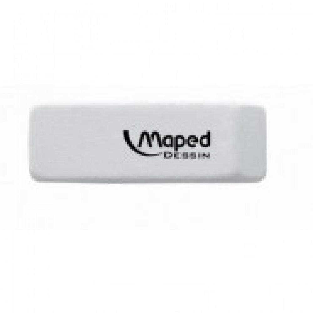 Ластик Maped Dessin, каучук, скошенная форма для ручки и карандаша,57x18x10