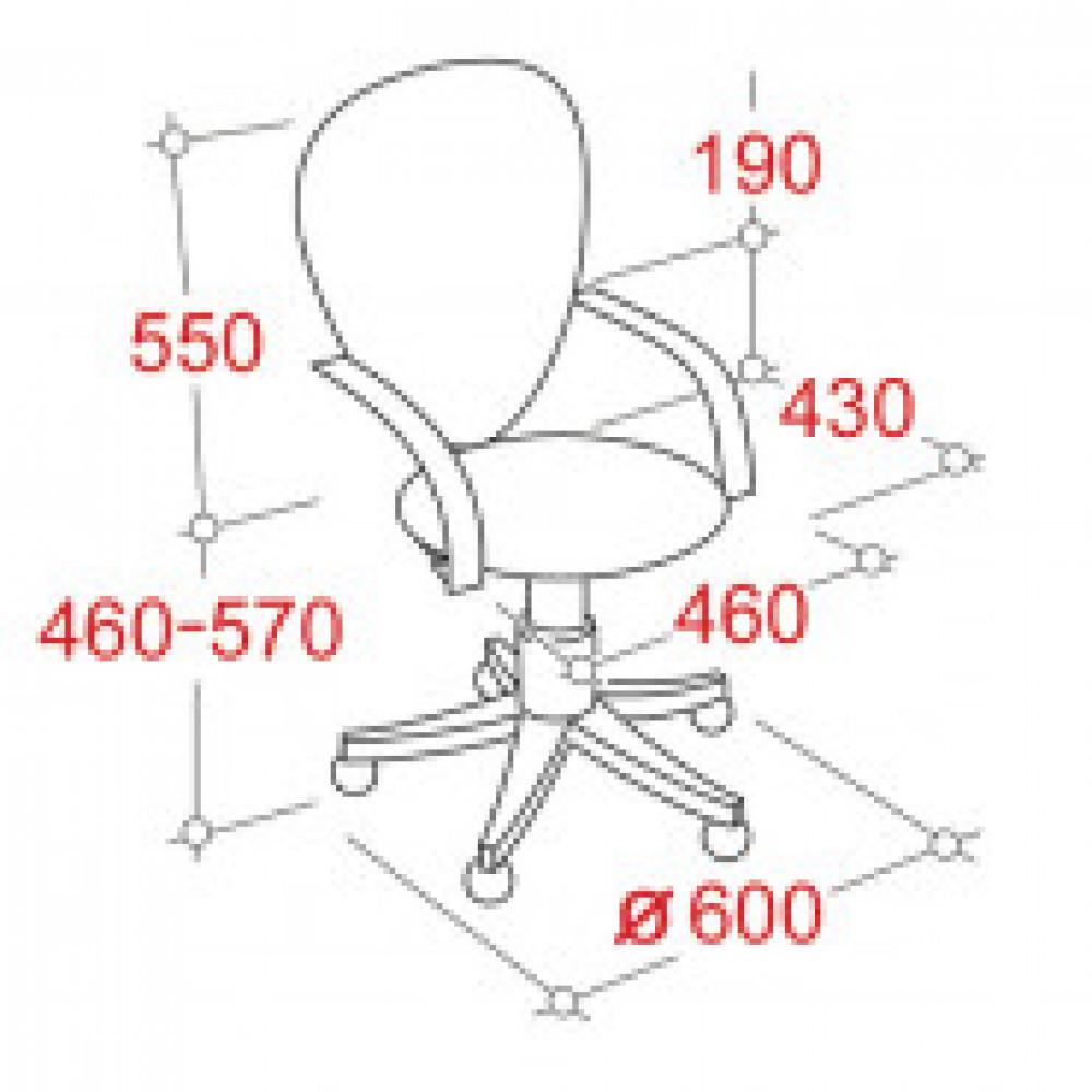 Кресло OL_EChair-206 PE ткань черная KB14, хром