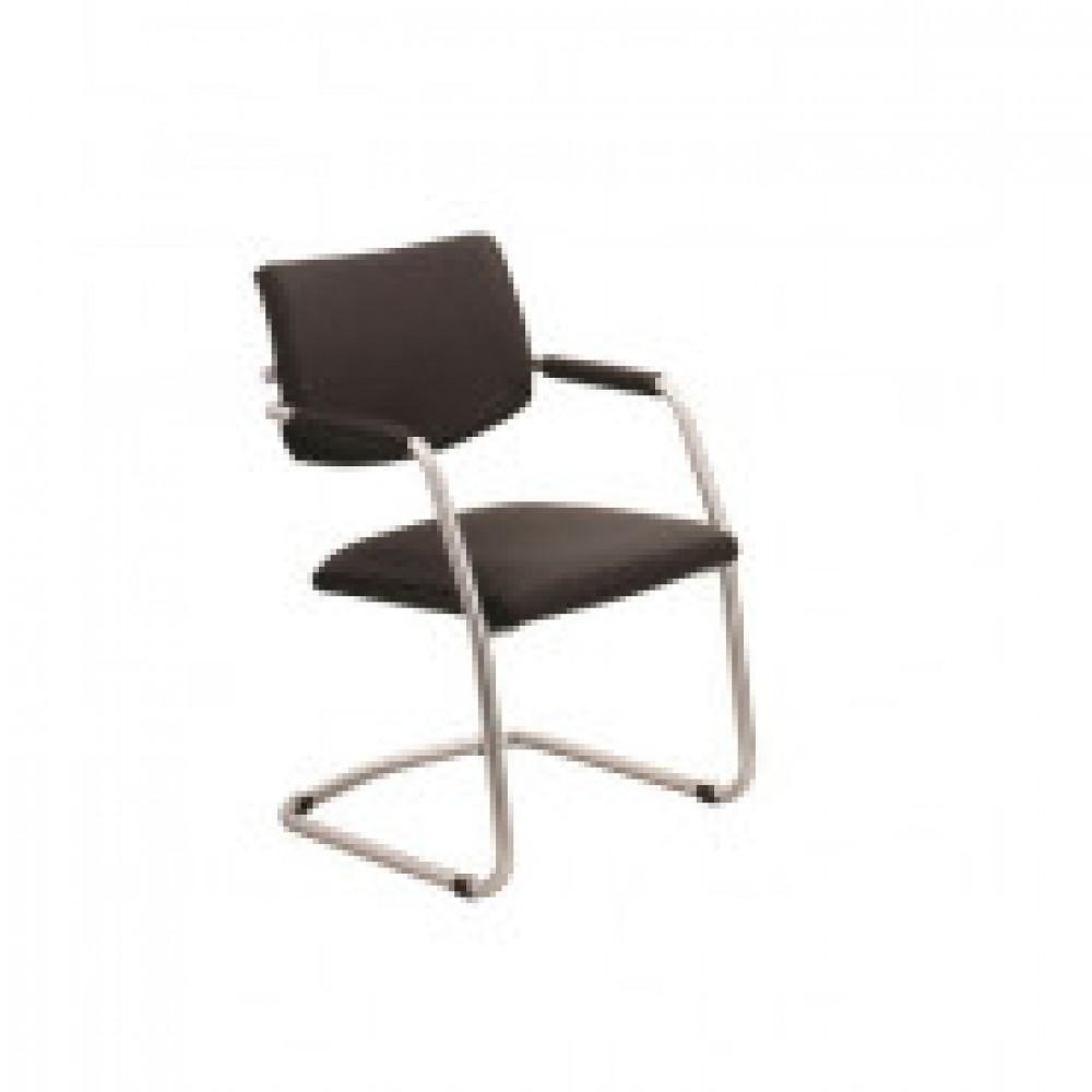 Кресло UN_Delta silver V14 к/з черный
