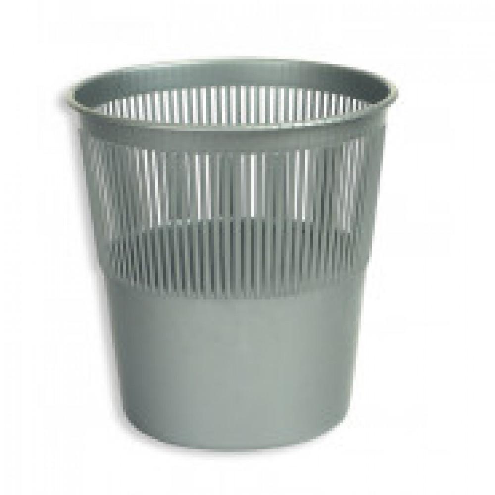 Корзина офисная 10л пластик, серая Attache