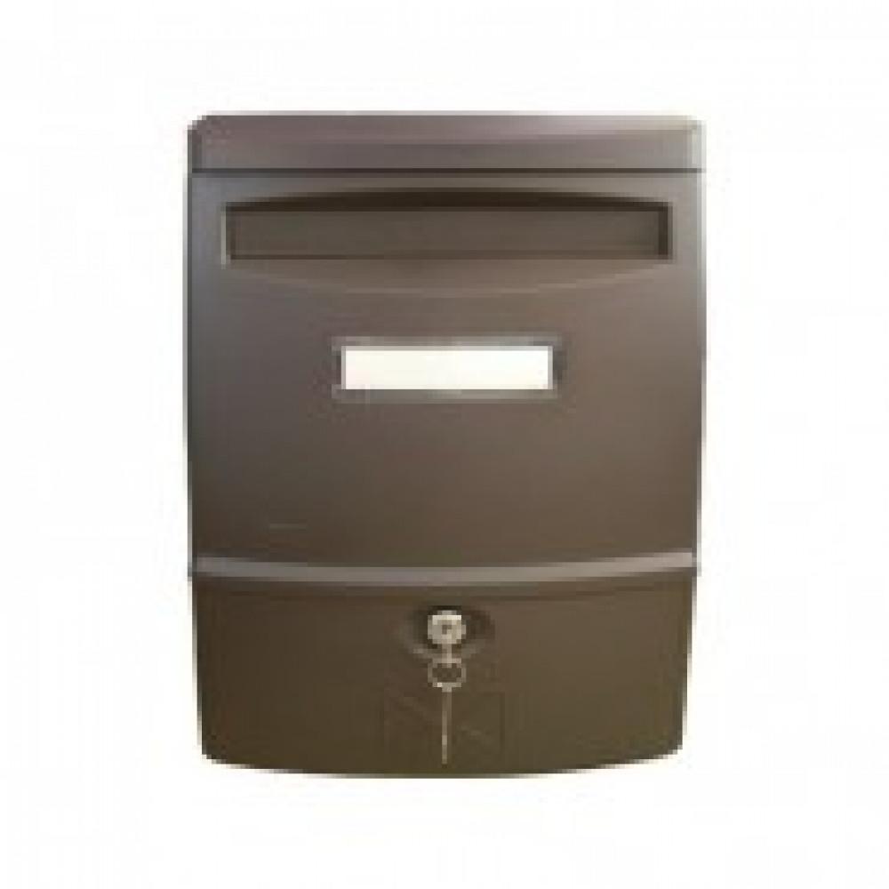 Ящик почтовый SHUH RU LTP-02 (коричн.) пластик.почтов.ящик,272х113х383