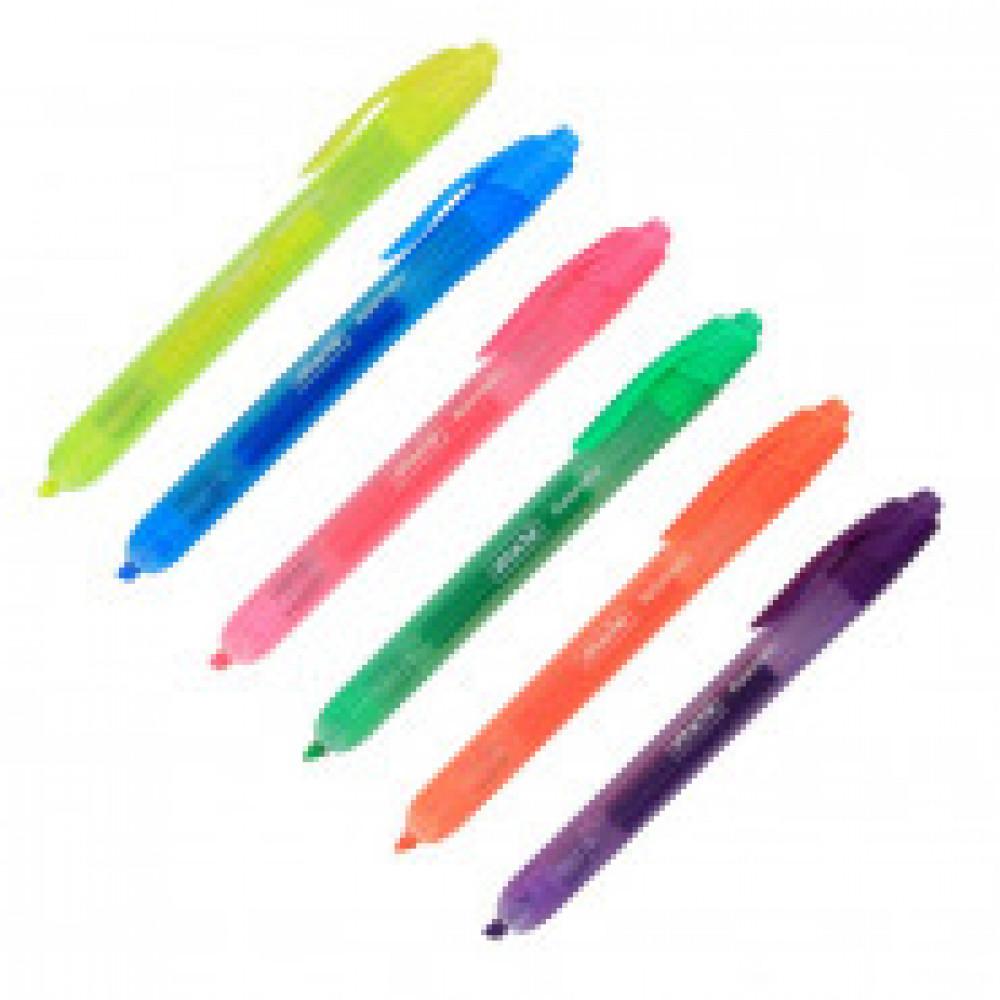 Маркер выделитель текста Attache Automatic 2-4мм наб. 6 цветов