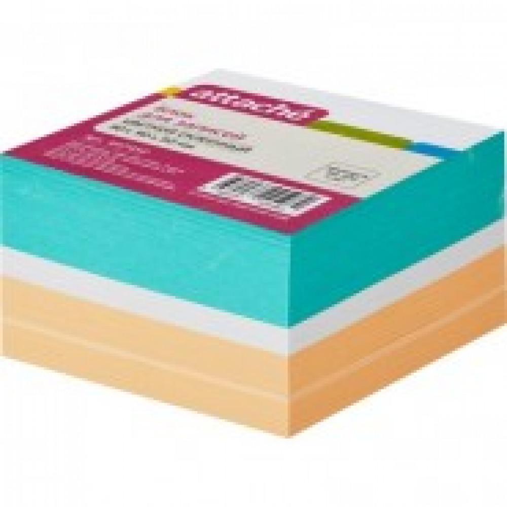 Блок для записей ATTACHE на склейке 9х9х5 цветной блок 80 г
