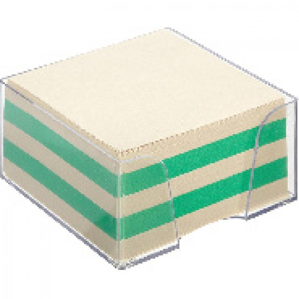 Блок для записей в подставке ATTACHE ЭКОНОМ в стакане 9х9х5 цветной Т