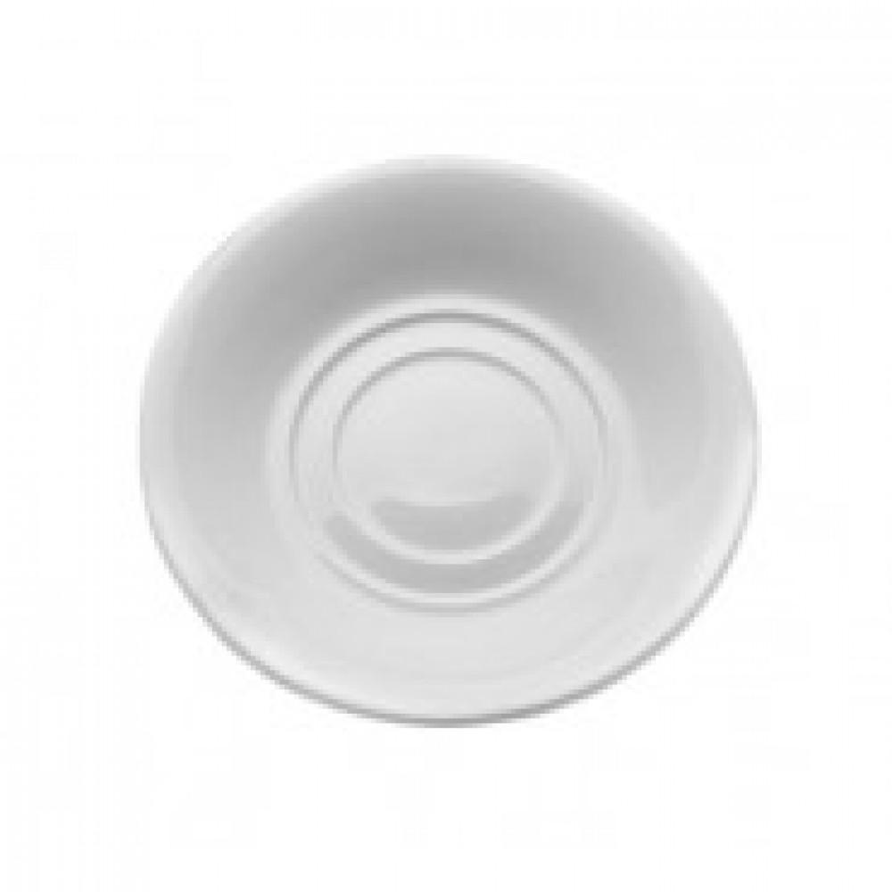 Блюдце Wilmax фарфоровое белое 140мм (артикул производителя WL-996099)