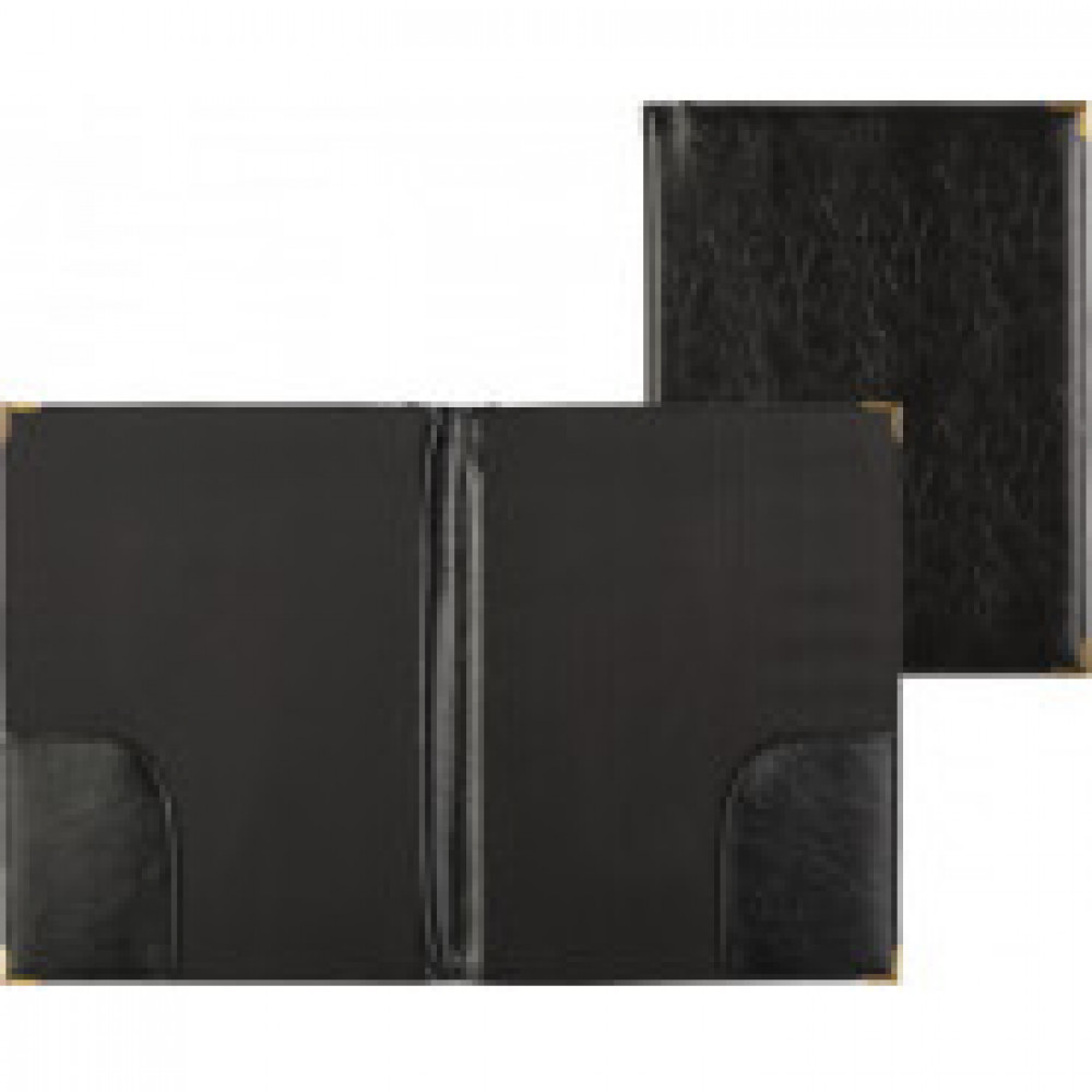 Папка адресная А4+ искусственная кожа черная