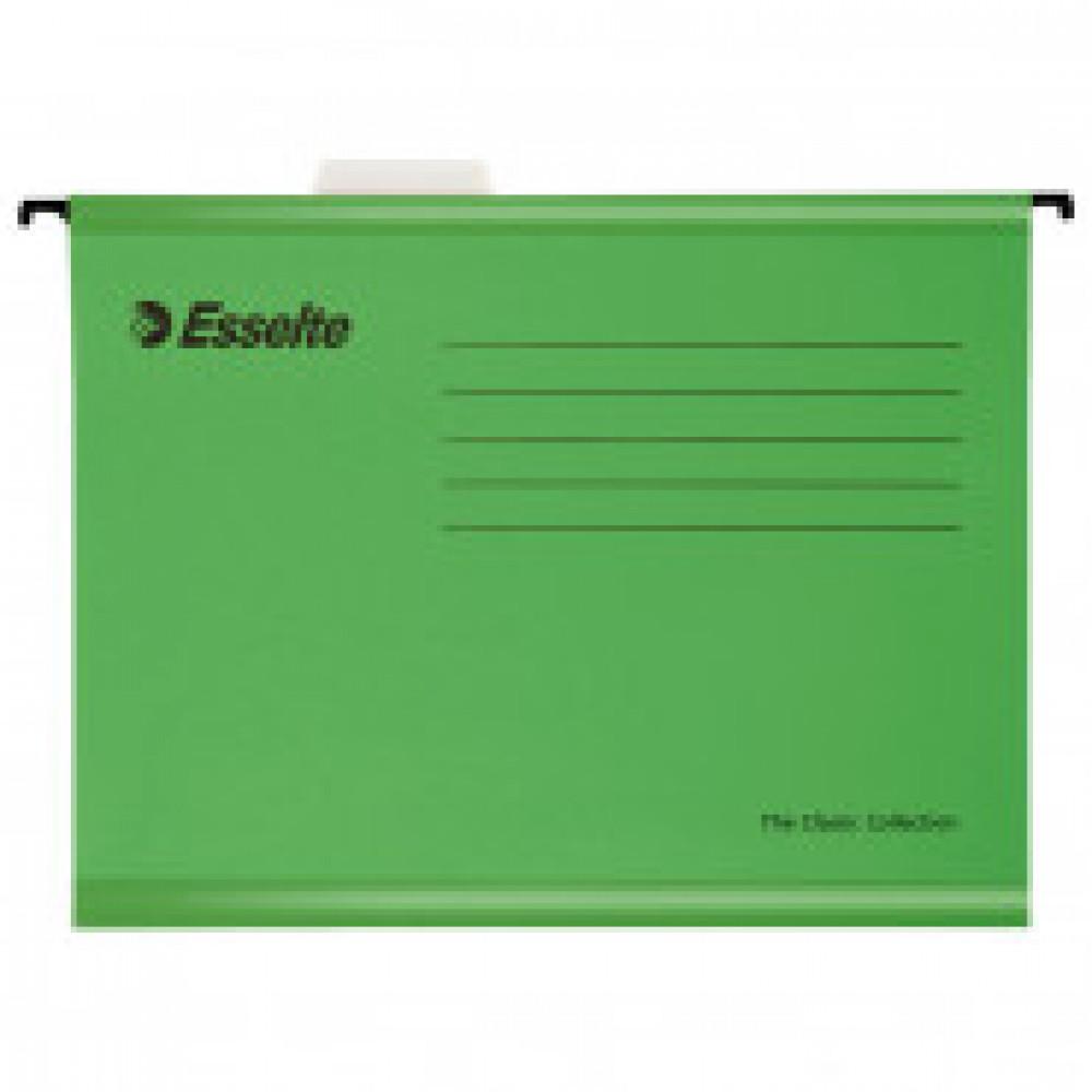 Подвесная регистратура папка Esselte Plus Foolscap, зеленый 90337 25 шт