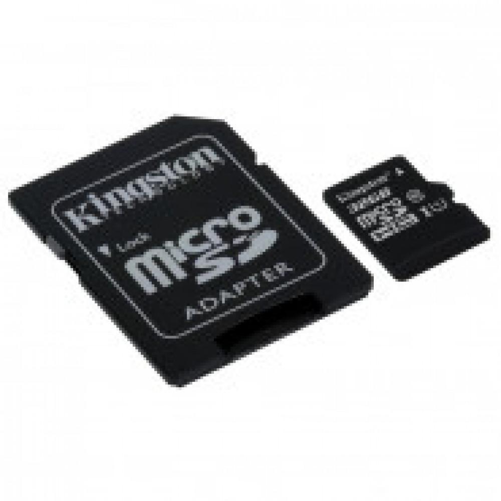 Карта памяти Kingston Canvas Select microSDHC 32Gb, Class 10+ад,SDCS/32GB