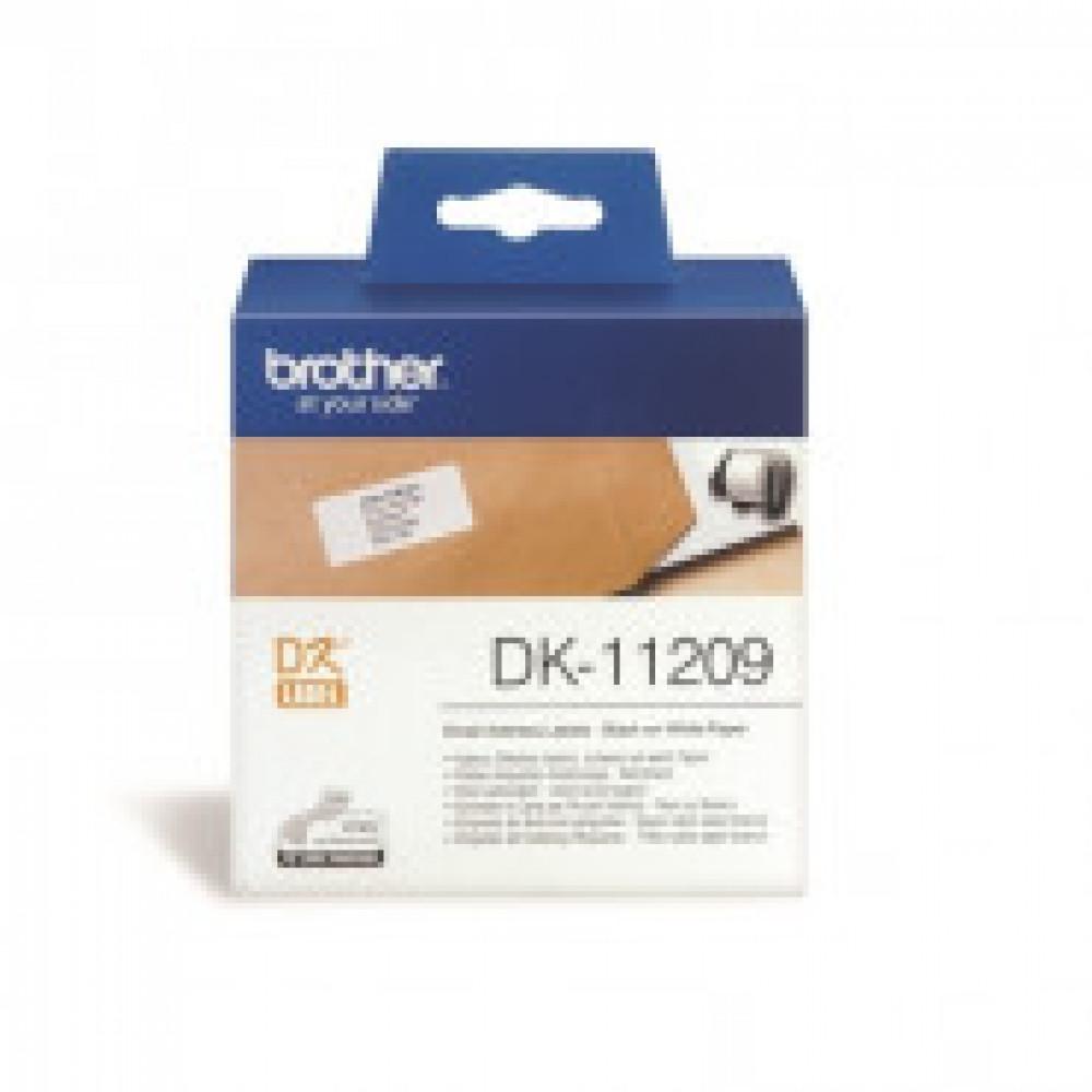 Картридж к этикет-принтеру Brother DK11209 29х62мм 800шт адрес.накл для QL