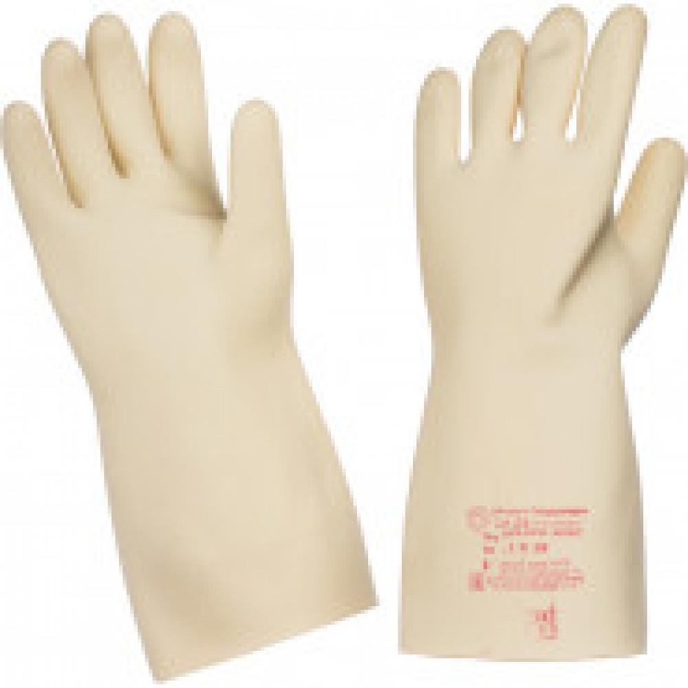 Перчатки защитные диэлектрические бесшовные латексные размер 3